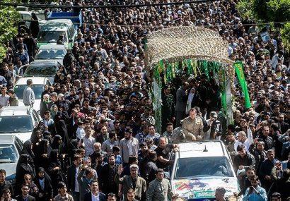 تشییع باشکوه شهید مجید قربانخانی در پایتخت