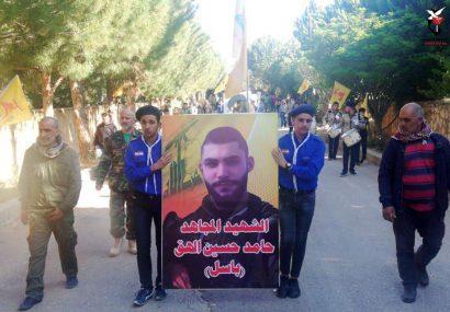 پیکر مطهر شهید حزب الله تشییع شد +عکس و فیلم