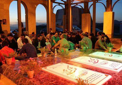 برگزاری مراسم ضیافت الهی در حرم مطهر شهدای گمنام سراسر کشور