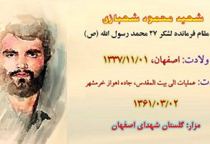 زندگی نامه شهید محمود شهبازی دستجردی
