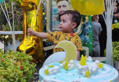 نخستین سال تولد فرزند شهید مدافع حرم  (محمد حسن  باب الخانی)